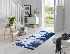 Patterned Floor Mat | Entry Floor Mats | Colorful Floor Mats | Stylish Floor Mats | Studio 67 Floor Mats | Non-Skid Floor Mats | Designer Floor Mats | Blue Floor Mats | Blue Decor | Contemporary Floor Mats | Foyer Floor Mats