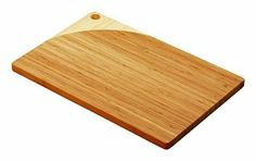 """Simply Bamboo 18 X 12 Maui Bamboo Cutting Board by Simply Bamboo. $21.95. Features a hole on one corner for easy hanging and storage. Made of lightweight and durable bamboo. Measures 18"""" x 12"""" x 0.75"""". Protect your counter and table tops with this beautiful bamboo cutting board. Features a hole on one corner for easy hanging and storage. Our bamboo cutting boards are made of durable, eco-friendly bamboo and feature a natural food-safe finish. *Care Instructions: T..."""