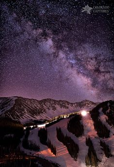 Starlight Mountain Ski Hill, Rocky Mountains, Colorado,