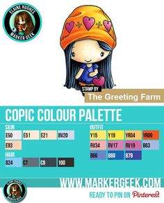 The Daily Marker 30 Day Colouring Challenge 2 - The Greeting Farm Amor Anya Copic Colour Palette www.markergeek.com