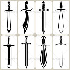 Sword Icons Set #GraphicRiver Sword Vector Icons Set Pack include: EPS…