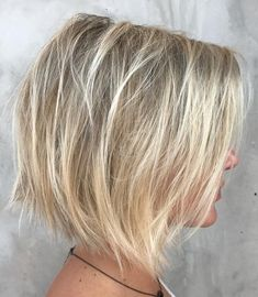 Wispy Dishwater Blonde Bob with Babylights