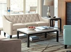 Chloe Velvet Tufted Sofa Living Room Furniture Collection - Apartment Living - For The Home - Macy's Sunroom Furniture, Sofa Furniture, Pallet Furniture, Living Room Furniture, Outdoor Furniture, Furniture Ideas, Furniture Design, Living Room Sofa Design, Living Room Sectional