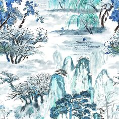 From the new Designers Guild Shanghai Gardens collection this is called Jade Temple.