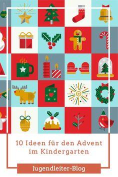 10 Ideen für den Advent im Kindergarten In Kindergarten, Advent Calendar, Blog, Holiday Decor, Cards, Youth Groups, Daycare Ideas, Play Ideas, Young Adults