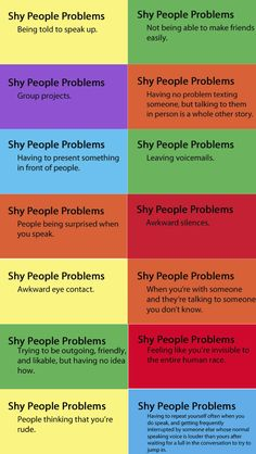 Shy People Problems... well kind of. Im shy  sometime  but mostly i just dont like people a    whole...sooo...