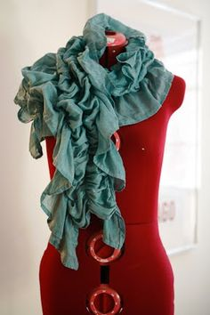A great scarf you can make yourself if you have a sewing machine