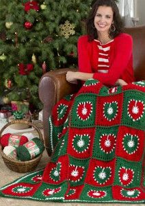 Holiday Hearts Crochet Afghan | AllFreeCrochetAfghanPatterns.com