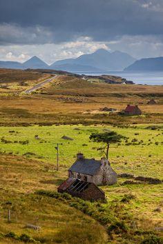 Applecross Peninsula. View to Skye. NC500. Wester Ross. Scotland.