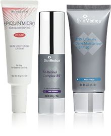 This prescription strength anti-aging regimen lightens existing dark spots as it prevents further skin discoloration for brighter, more luminous skin in a simple, easy to use professional system.