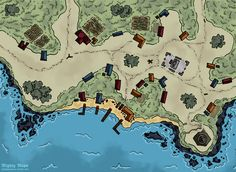 First town/city map Thought a quiet coastal village with a lighthouse would be the perfect place to start As always thoughts and Map Village map Fantasy map