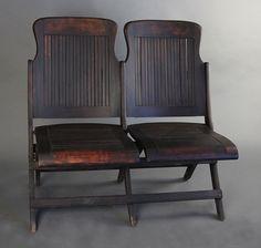vintage cinema bench