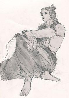 Krishna Hindu, Krishna Statue, Hindu Deities, Cool Art Drawings, Art Drawings Sketches, Lord Krishna Images, Shiva Parvati Images, Happy Tree Friends, Black Pen Sketches