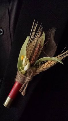 Wedding Boutonniere Boutineer Shotgun Shell by TheRusticPorch