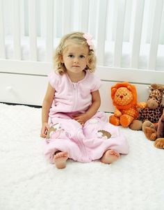 Sleeping Bag with Feet Pink Soft Bamboo Cotton