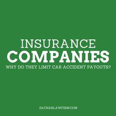 Why do insurance companies limit car accident payouts?  Insurance companies want to deny claims if they can.  If they can't deny a claim, want to limit the payout as long as they can or limit the amount paid—as much as possible.    Keep Reading: - http://www.zacharassociates.com/personal-injury-wrongful-death-faq/arizona-personal-injury-video-faq-frequently-asked-questions-and-answers/why-do-insurance-companies-limit-car-accident-payouts-arizona-personal-injury-faq/
