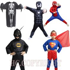 Red spiderman costume black spiderman batman superman halloween costumes for kids superhero capes anime cosplay carnival costume