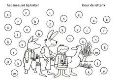 Thema winter: TAAL letterherkenning k Kikker in de kou