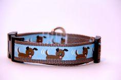 Adjustable Dog CollarPuppy by HandmadeInTheHammer on Etsy, $15.00