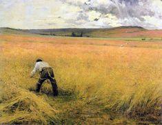 Jules Bastien-Lepage  (1848-1884)Les Bles murs  Oil on canvas1880