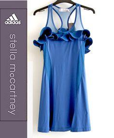 LOVE this blue ruffle tennis dress by Adidas Stella McCartney.