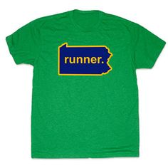 Mens Lifestyle Runners Tee Pennsylvania Runner - Show off your pride for Pennsylvania with this great Pennsylvania Runner State Tee.