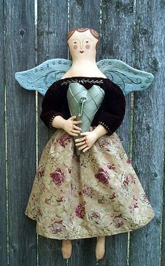 Vintage Folk Angel - Doll Pattern