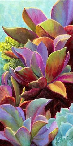 Succulent Jewels giclee print on canvas or/paper ©Sandi Whetzel by sandiwhetzel, via Flickr: