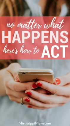 We all face trials. The question is: how do we handle them? No matter what happens, here's how to ACT! Christian Devotions, Christian Marriage, Christian Encouragement, Christian Living, Christian Life, Christian Women, Bible Verses For Women, Spiritual Growth, Spiritual Practices
