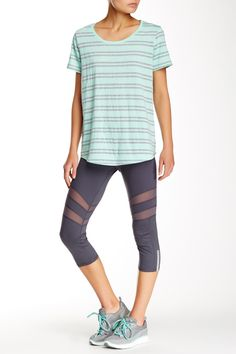 Mesh Inset Capri Legging by Marc New York on @nordstrom_rack