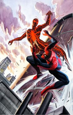 Spider-Girl (Universe X) vs Spider-Man by Butch Guice and Alex Ross
