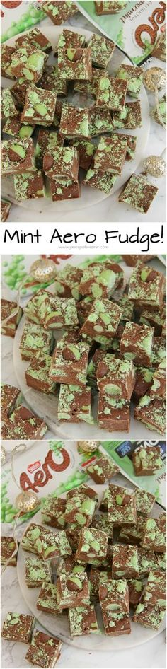 Mint Aero Fudge!! Easy Five Ingredient Fudge full of Delicious Mint Chocolate Goodness making my new favourite… Mint Aero Fudge! No Sugar Thermometers, No Boiling, Just Easy!