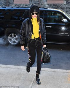 Represent: The model wore a Chrome Hearts beanie and jacket in celebration of her upcoming...