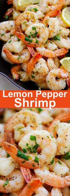 Lemon Pepper Shrimp – easy and flavorful recipe in 15 minutes. Citrusy and peppe… Lemon Pepper Shrimp – easy and flavorful recipe in 15 minutes. Citrusy and peppery in each bite, the shrimp can be served with pasta or salad. Pork Rib Recipes, Fish Recipes, Seafood Recipes, Cooking Recipes, Healthy Recipes, Delicious Recipes, Recipies, Prawn Recipes, Alkaline Recipes