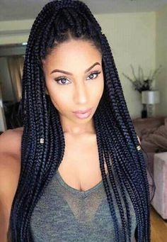 awesome 60 Superlative Ideas for Box Braids Styles - The Perfect Ways of Rocking Braids Try On Hairstyles, African Braids Hairstyles, Pretty Hairstyles, Protective Hairstyles, Braided Hairstyles, Creative Hairstyles, Hairstyle Ideas, Cute Box Braids, Blonde Box Braids
