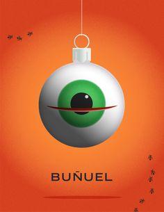 Celebrity Christmas Ornaments - Luis Buñuel
