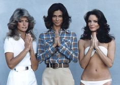 Charlie's Angels~ i was farrah...kate jackson was too serious and jaclyn smith's voice was too soft and her lips too shiny. ha!
