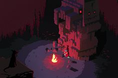 'Hyper Light Drifter' is a dark and stunning take on classic 16-bit games  Check out those colors!!