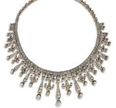 A diamond necklace/tiara, circa 1890