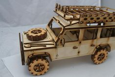 Wooden Model Land Rover 110 by FleursGifts on Etsy Woodworking Tools For Sale, Woodworking Projects, Vbs Crafts, Wood Crafts, Wooden Model Kits, Laser Cutter Projects, Wooden Puzzles, 3d Puzzles, Laser Cut Wood