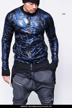 Extra Light Coating Leaf Wrinkle Zip Up Jacket