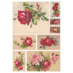 Цифровая бумага для декупажа 152 DGE «Картина Розы»