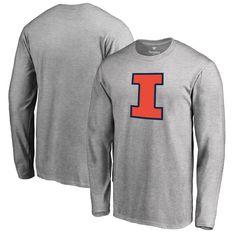 Illinois Fighting Illini Fanatics Branded Primary Logo Long Sleeve T-Shirt - Ash