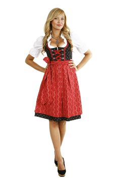 Dirndl costume Point A317 with a blouse and skirt 3 part, size 34