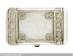 FABERGÉ Karl (Carl), 1846-1920 (Russia) Title : A RUSSIAN LADY'S CIGARETTE CASE Date : 1896/1908   Category : Silver Medium : : Silver, 3 oz. (93 gm.)