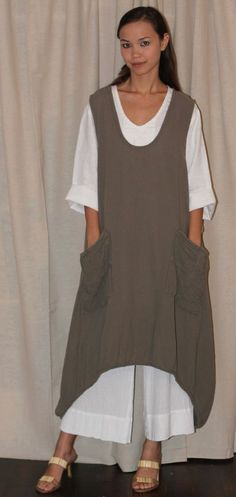 OH MY GAUZE Cotton Lagenlook BRAD Long Curv-Hem VEST Tunic OSFM M/L/XL/1X Color in Clothing, Shoes & Accessories, Women's Clothing, Tops & Blouses | eBay