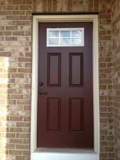 Maroon Front Door With Tan House Google Search Front