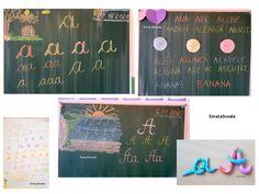 Literele de mână - literele a si A - EmaLaScoala Chalkboard Quotes, Art Quotes