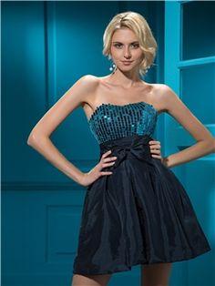 Attractive A-line Short/mini Empire Sequins Zipper-up Cocktail Dress