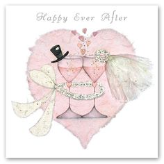 Quality Greeting Cards by UK Artists - Find out About the Artists who create the beautiful greetings cards we supply all over the Costa Blanca and Spain. Wedding Anniversary Cards, Happy Anniversary, Wedding Art, Wedding Images, Wedding Illustration, Wedding Silhouette, Decoupage Vintage, Tampons, Diy Wedding Decorations